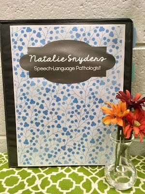 SLP Editable Danielson Portfolio by Natalie Snyders