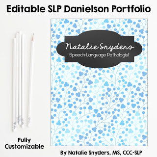 Editable Danielson Portfolio for SLPs