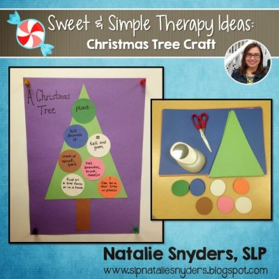 Sweet and Simple Therapy Idea – Christmas Tree Craft