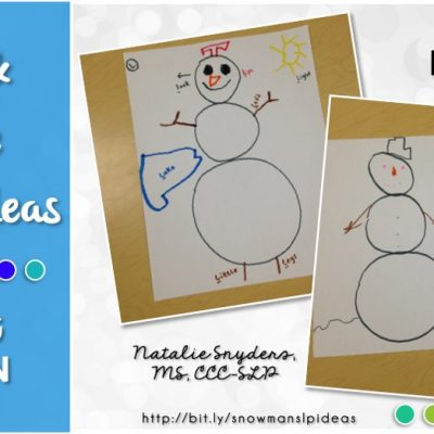 Sweet and Simple Therapy Idea: Snowman Activities
