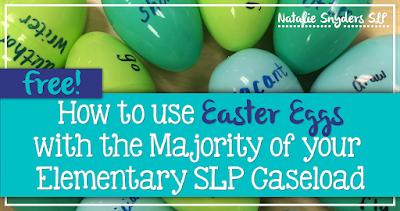 Easter Egg Therapy Idea & Freebie!