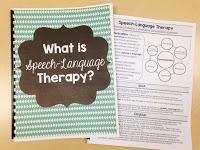 Speech-Language Therapy Explanation Handouts for Parents, Teachers, & Staff