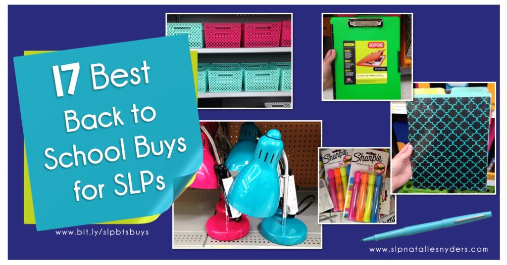 What should new school SLPs buy for their therapy rooms?