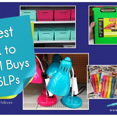 Best Back to School Buys for SLPs