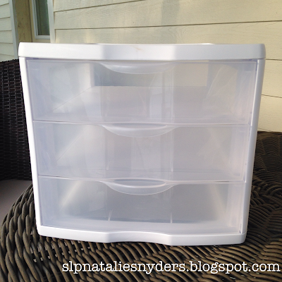 Plastic Drawer Makeover for the Classroom