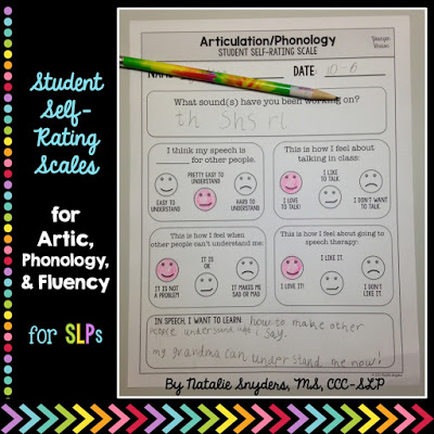 Student Self-Rating Scales for Articulation, Phonology, and Fluency