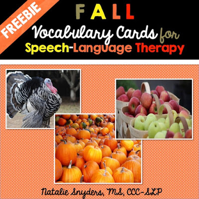 Quick and Easy Therapy Idea for Fall (with a Freebie!)
