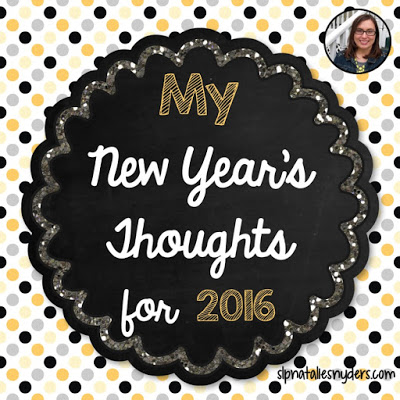 2016:  A New Year