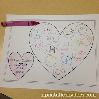 Quick and easy Valentine freebie for speech language therapy