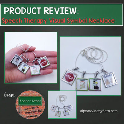 Product Review: Speech Therapy Visual Symbol Necklace by Lisa Streets