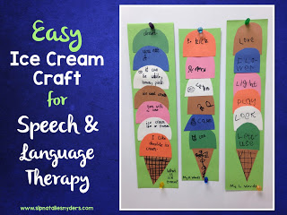 Easy Ice Cream Craft for Articulation & Language