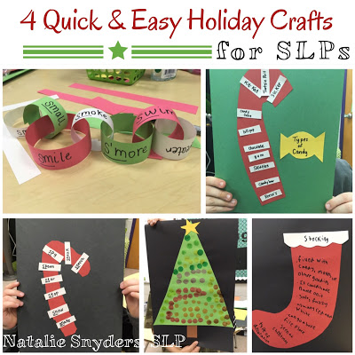 4 Easy (Low Prep!) Holiday Crafts for SLPs