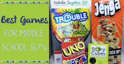 Top Games for Middle School Speech Language Therapy