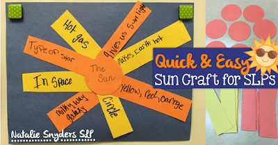 Quick and Easy Sun Craft for Speech-Language Therapy