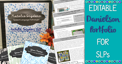 Editable Danielson Professional Portfolio for SLPs