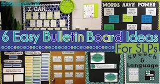 6 Easy Bulletin Board Ideas for SLPs
