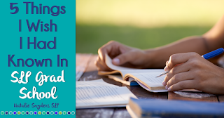 5 Things I Wish I Had Known In Grad School About Being a School Based SLP