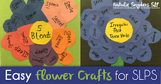 Easy Flower Craft for SLPs