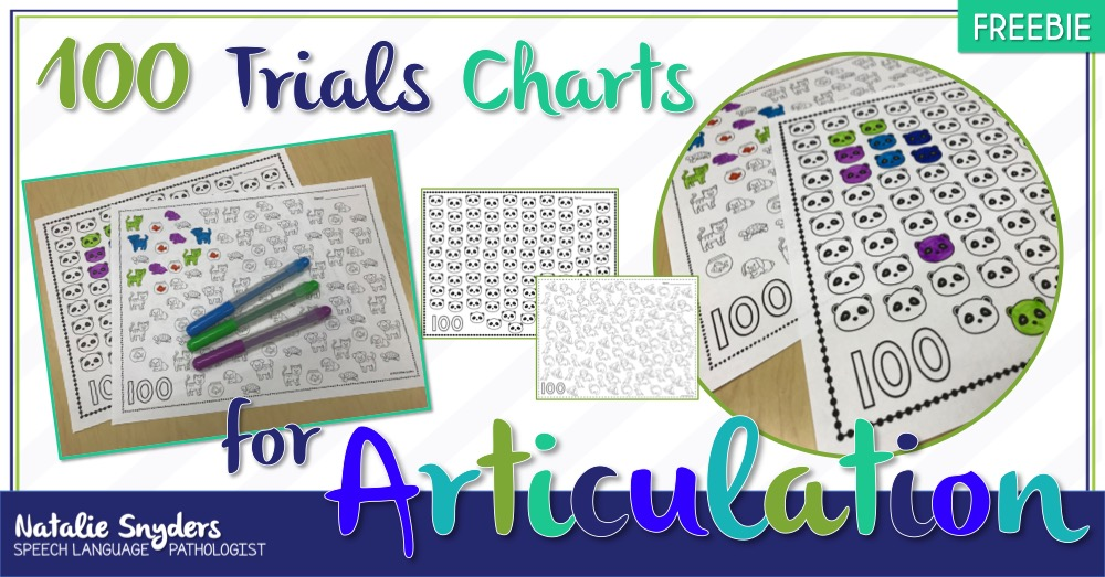 Free 100 Trials Chart for Articulation Therapy for SLPs