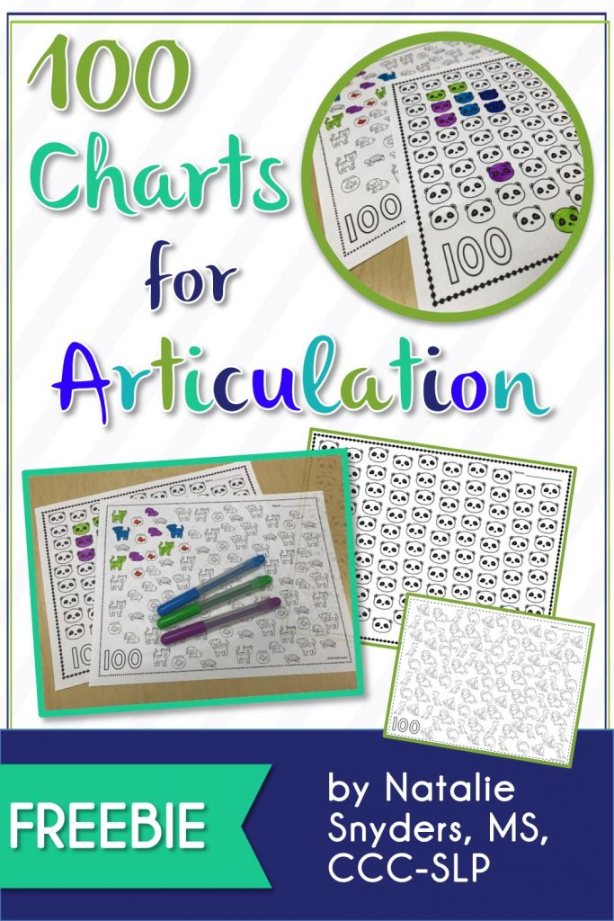 FREE 100 Charts for Articulation by Natalie Snyders SLP
