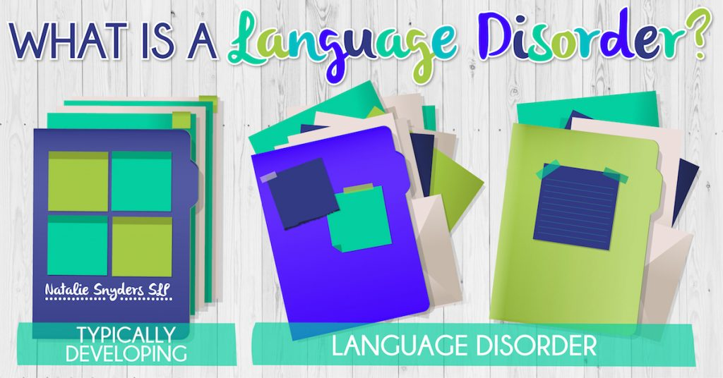 how to explain language disorders to parents and teachers as an SLP