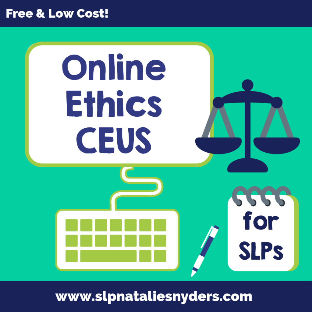 Online ethics CEUs for SLPs