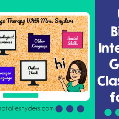 Using Bitmoji Interactive Google Classrooms in Speech Language Therapy